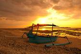 Sunset boat — Stock Photo