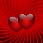Flight of two hearts — Stock Photo