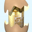 Royalty-Free Stock Photo: EURO hatched from an egg