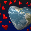Planet of love - the Earth — Stock Photo