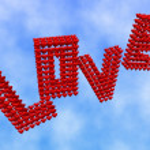 Love in the sky — Stock Photo