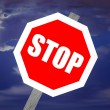 Warning sign - STOP — Stock Photo
