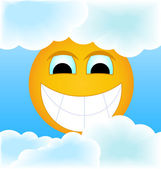 The sun in clouds — Stock Photo