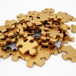 Golden puzzle — Stock Photo