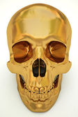 Golden skull — Stock Photo