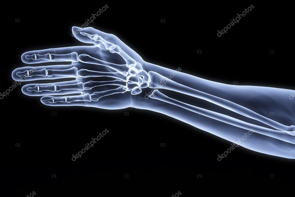 Human hand under the X-rays. — Stock Photo #2071422