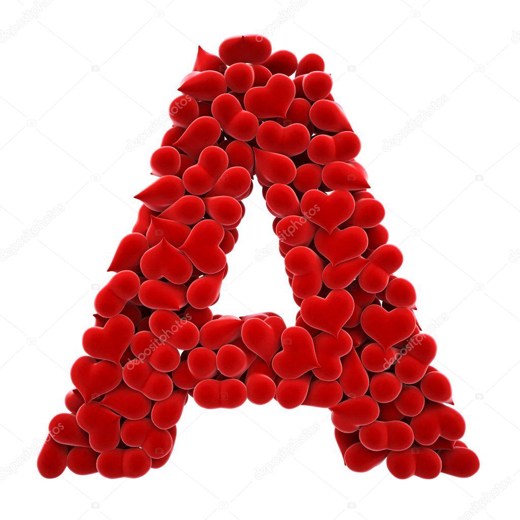 Printable Heart Alphabet Letters for School  Alphabet