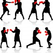 Boxing fight — Vector de stock #2053478