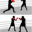 Stock Vector: Boxing fight