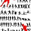 Sport silhouette - vector - Stock Vector