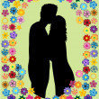 Royalty-Free Stock Vector Image: Romantic Scene of Love