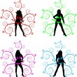 Vettoriale Stock : Silhouettes - vector illustration