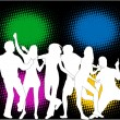 Royalty-Free Stock Imagen vectorial: Party - color background