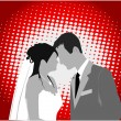 Married Couple,color - vector work — Stockvectorbeeld