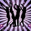 Royalty-Free Stock Vector Image: Disco time, Background magenta