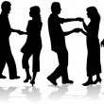 Dancing couple collection vector — Stock Vector