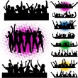 Stock Vector: Megparty - Push your hands up