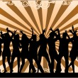 Stock Vector: Party Crowd , silhouettes