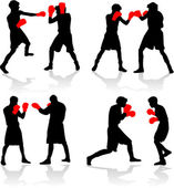 Pelea de boxeo — Vector de stock