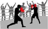 Pelea en el ring — Vector de stock