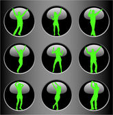 Bodies on the Buttons — Stock Vector