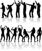 Танцы на дискотеке. — Cтоковый вектор