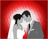 Married Couple,color - vector work — Vector de stock