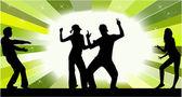 Young dancing — Stock Vector