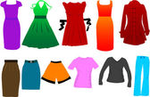 Fashion women dress vector — Stock Vector