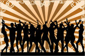 Party Crowd , silhouettes — Stock Vector