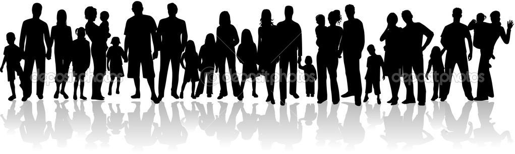 Vector silhouette  - family — Stock Vector #2054095
