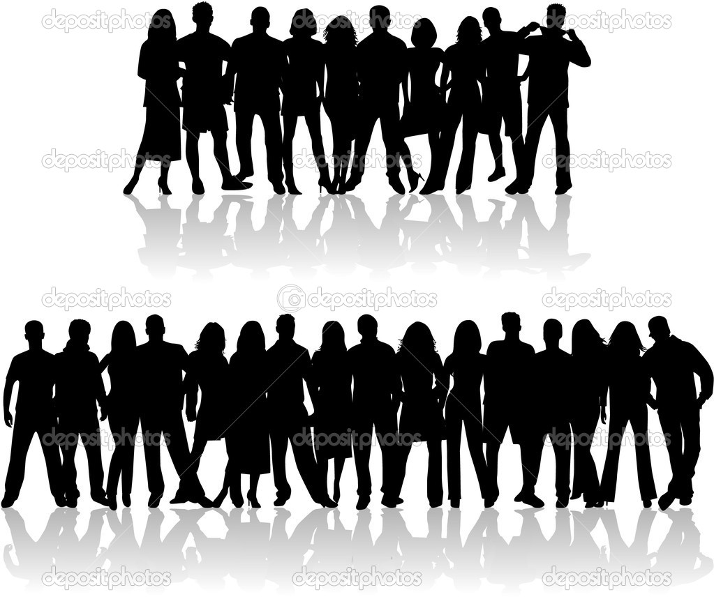 Noisy crowd , vector work  Stock Vector #2054535