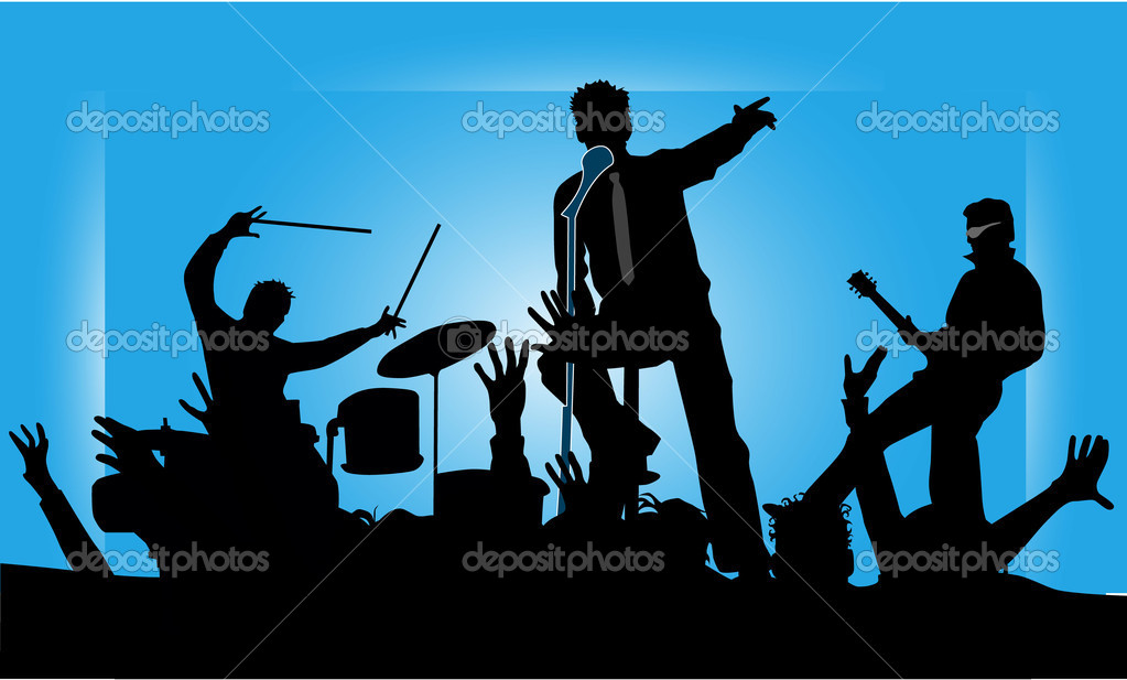 Party musicians concert band 2 — Stock Vector #2055932