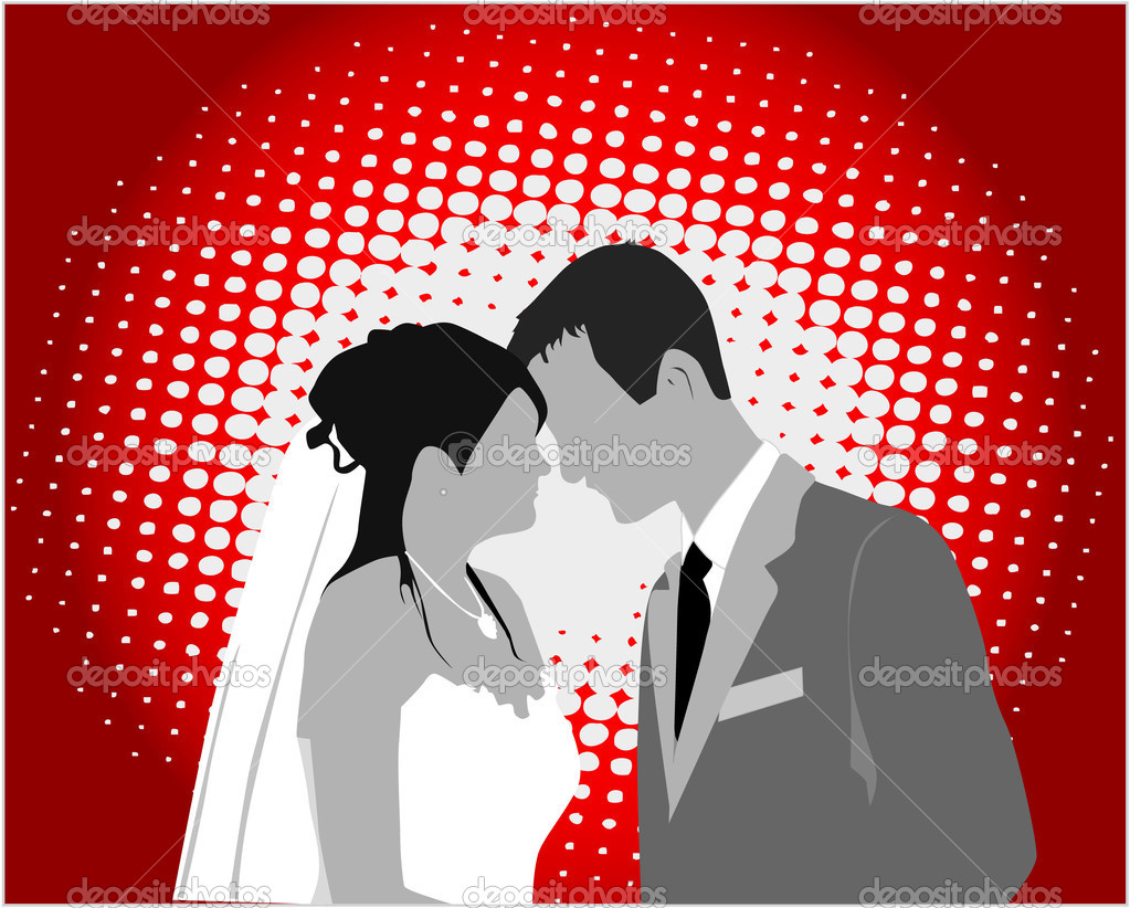 Married Couple,color - vector work — Stock Vector #2057054