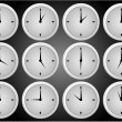 Clock icons — Stockvector #2066203