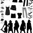 Royalty-Free Stock Vectorielle: Women Things