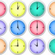 Clock icons — Vector de stock #2066628