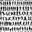 Subject Silhouettes — Vector de stock