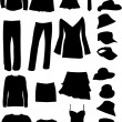 Dresses (women, man) , vector work — Stock Vector