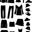 Dresses (women, man) , vector work — Stock Vector #2066906