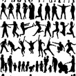 Vector de stock : Subject Silhouettes