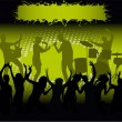 Royalty-Free Stock Vector Image: Concert - green  light