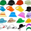 Vector Hats — Stockvektor #2067168