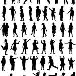 Silhouettes Chlilndrens — Stock Vector #2067200