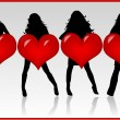 Royalty-Free Stock Imagen vectorial: Girls With Heart