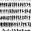 Big collection of silhouette - Stock Vector