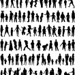 Big colection - family/ children/ kids — Stockvector