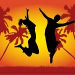 Hot fun on beach — Stock Vector #2068684