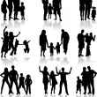 Family Silhouettes — Stock Vector #2068826