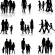 Royalty-Free Stock Vector Image: Family Silhouettes